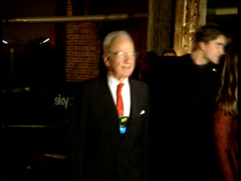 vídeos de stock e filmes b-roll de london battersea power station int i/c rupert murdoch arriving for launch of sky digital rupert murdoch interview sot talks about how good sky... - bbc2