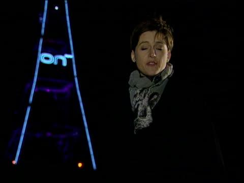 stockvideo's en b-roll-footage met digital terrestrial network; london: crystal palace: ext/night derham i/c tx 15.11.98/18.45 - itv