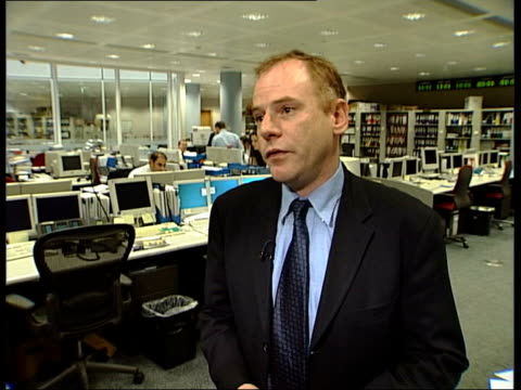 digital to end transmission of pay tv channels; itn int mathew horsman interview sot - talks of reasons for itv digital folding - biological process stock videos & royalty-free footage