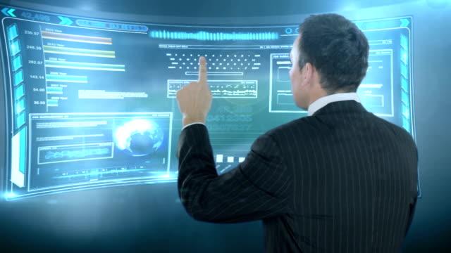 デジタルタッチでバーチャルスペースを備えております。 - 押しボタン点の映像素材/bロール