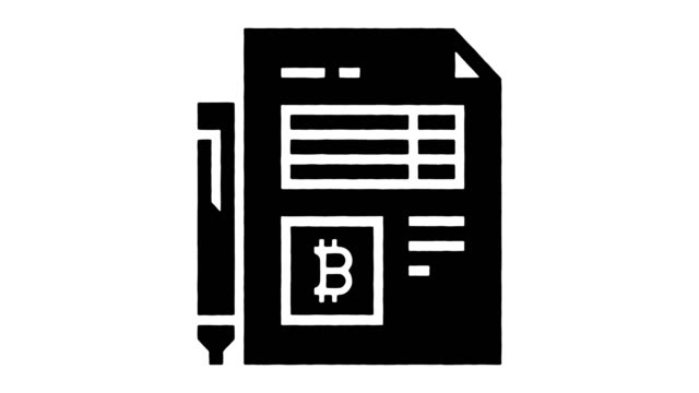 digital transactions & contracts line drawing & ink splatter animation with alpha - blockchain stock videos & royalty-free footage
