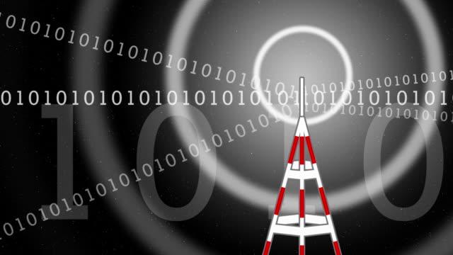 digital transmiter-dark version - mast stock videos & royalty-free footage