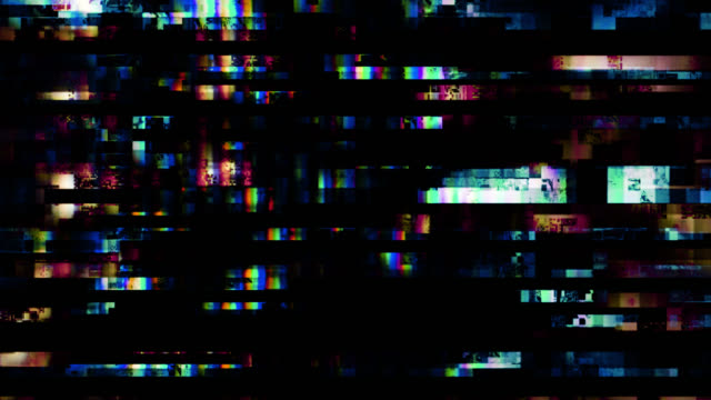 digital tv malfunction (loop). - glitch technique stock videos & royalty-free footage