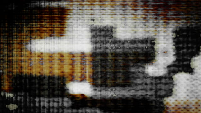 digital tv noise flickers, rolls and shifts (loop). - glitch technique stock videos and b-roll footage