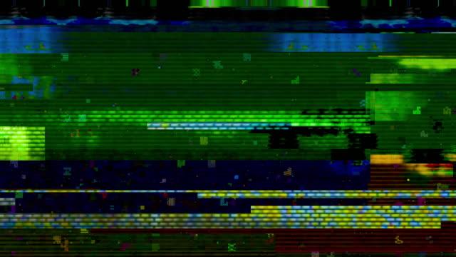 digital video glitch malfunction - computerfehler stock-videos und b-roll-filmmaterial