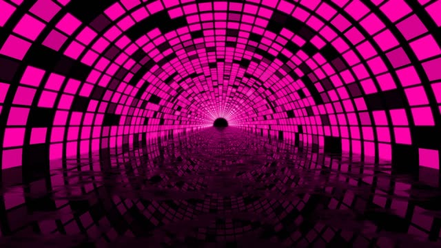 digital vj neon pink looped background corrridor - disco dancing stock videos & royalty-free footage