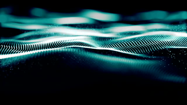 Digital Wave Particles Form