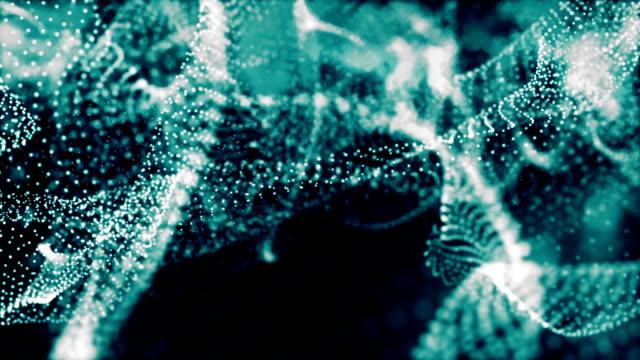 stockvideo's en b-roll-footage met digitale wave deeltjes formulier - vachtpatroon