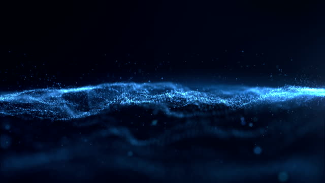 digital wave particles form - spotted stock videos & royalty-free footage