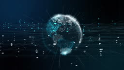 Digital world 5G AI IoT Fintech
