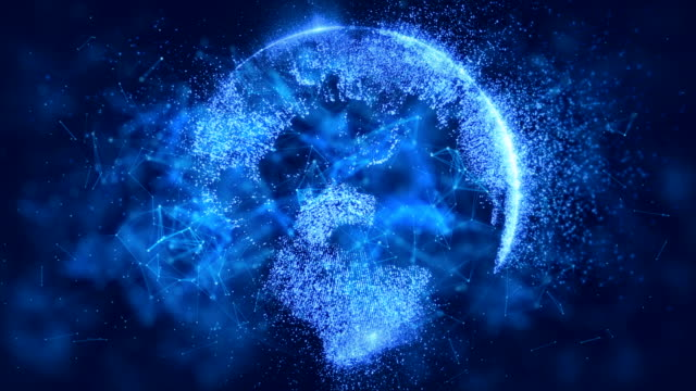 digital world, cryptocurrency network concept, blockchain, data, internet, security system, computer network - smart stock videos & royalty-free footage