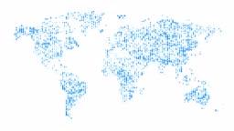 Digital world map background