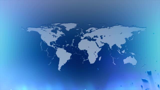 デジタル世界地図 - digital animation点の映像素材/bロール
