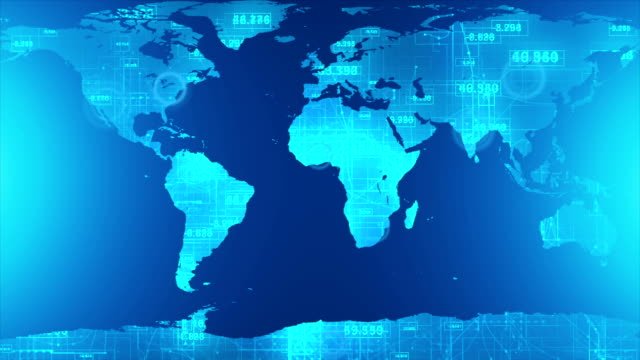 digital world map - asia pac stock videos and b-roll footage