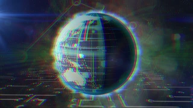 vídeos y material grabado en eventos de stock de concepto de red mundial digital en blockchain, sistema de seguridad, datos informáticos - eslabón