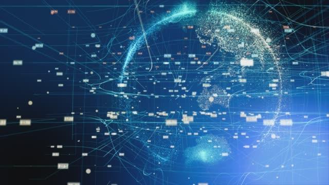 デジタルワールド、ネットワーク技術 - digital animation点の映像素材/bロール