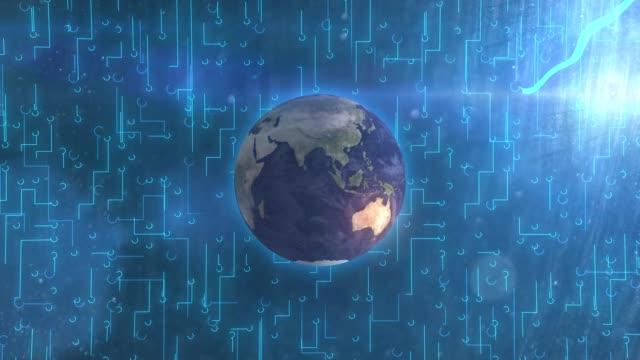 Digital World of Internet, Big Data Concept