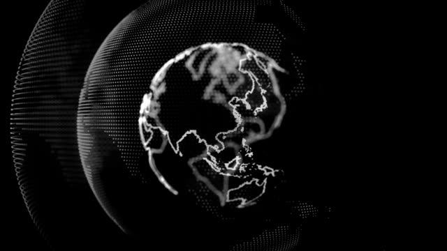 vídeos de stock e filmes b-roll de mundo digital - mapa múndi