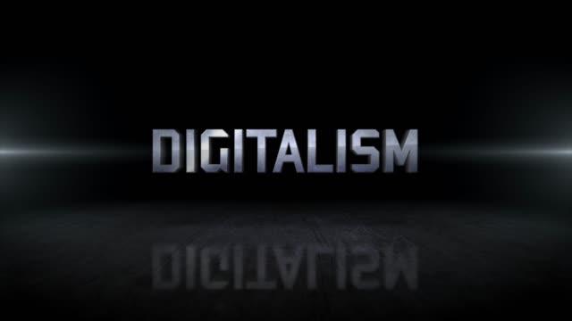 デジタル主義ワード4kビジネスデジタル技術コンセプトビデオ - ビジカジ点の映像素材/bロール