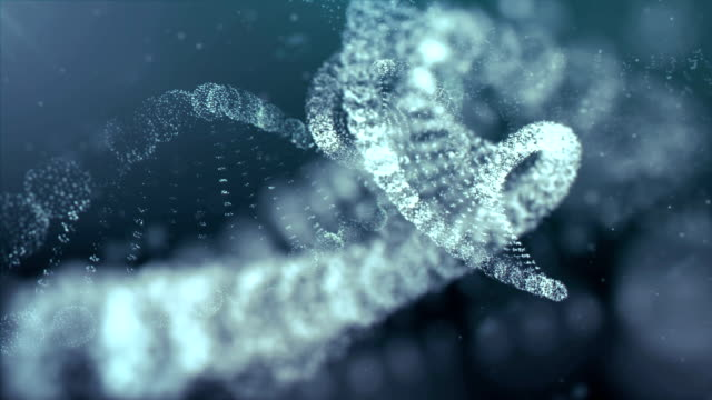 Digitally Generated DNA in Abstract Particles Cyber Space