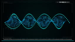 Digitally generated dna structure