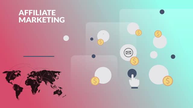 vidéos et rushes de séquences vidéo générées numériquement d'un concept de marketing d'affiliation - surexposition effet visuel