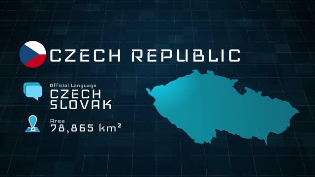 digital vorbereitete tschechische karte und länderinformationen - osteuropäische kultur stock-videos und b-roll-filmmaterial