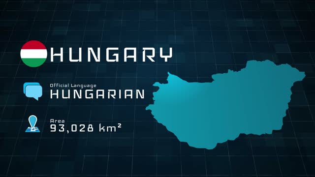 digitally prepared hungary map and country information - traditionally hungarian stock videos & royalty-free footage