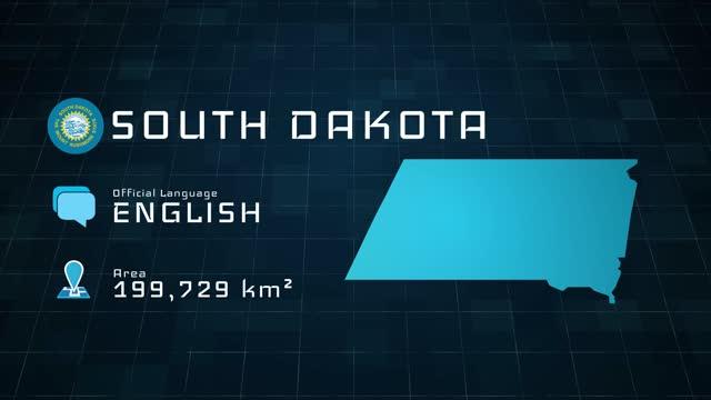 stockvideo's en b-roll-footage met digitaal opgestelde south dakota kaart en landinformatie - zuid dakota