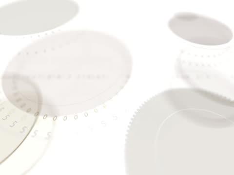 vidéos et rushes de anneaux digitals - verre translucide