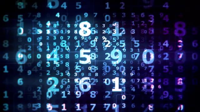 vídeos de stock, filmes e b-roll de loop de fundo de dígitos - número 5