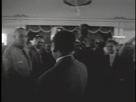 dignitary arrives at an officers' club in cam ranh, south vietnam and sits at the head table. - south vietnam stock videos & royalty-free footage