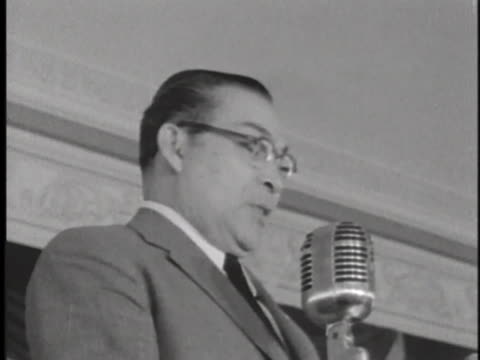 dignitary speaks at an officers' club in cam ranh, south vietnam. - south vietnam stock videos & royalty-free footage