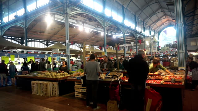 Dijon indoor market in France