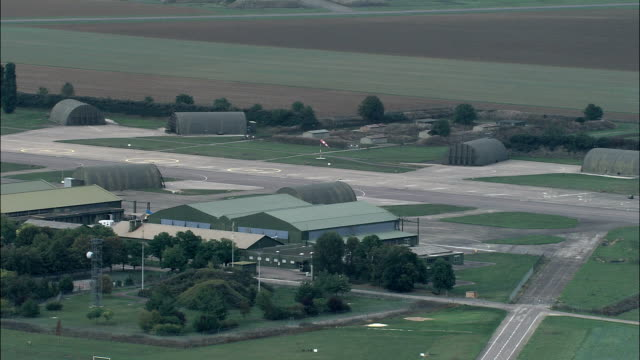 dijon longvic airport and military base  - aerial view - bourgogne, cote d'or, france - military base stock videos & royalty-free footage