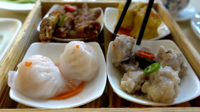dim sum in guangzhou, china - guangzhou stock videos & royalty-free footage