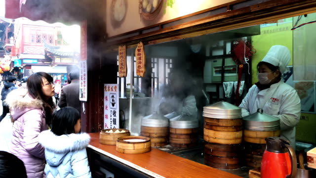 Dim Sum is prepared near the Yu Yuan Temple Gardens on February 02 2018 in Shanghai China British Prime Minister Theresa May will today address a...
