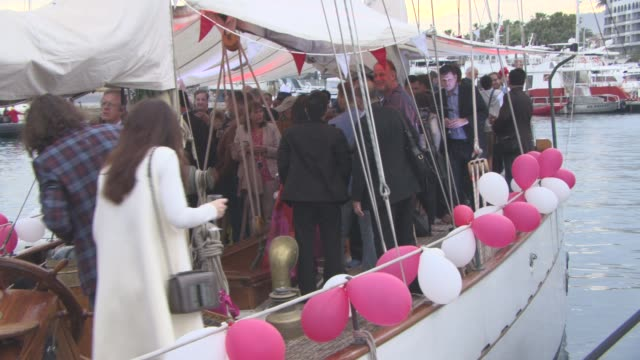 broll dima bilan at 'the heritage of love' yacht party and interviews at palais des festivals on may 13 2016 in cannes france - cannes video stock e b–roll