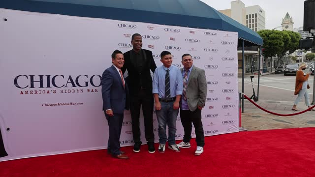 """dimas salaberrios attends the premiere of cinelife entertainment's """"chicago: america's hidden war"""" at the regency village theatre on may 06, 2021 in... - westwood neighborhood los angeles stock videos & royalty-free footage"""