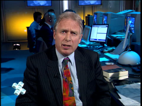 dimbleby atrium special atrium election set 22.06.51 atrium professor colin rallings interview sot - discusses exit poll results / expecting swings,... - gerald scarfe stock videos & royalty-free footage