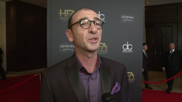 INTERVIEW Dimiter Marinov on some of the most exciting aspects of the Hollywood Film Awards at the 22nd Annual Hollywood Film Awards at The Beverly...