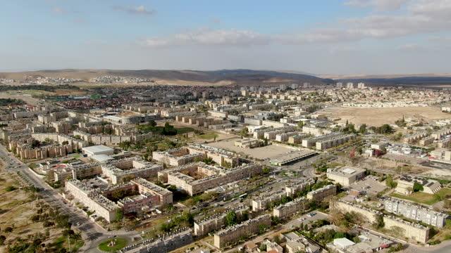 dimona city aerial - negev stock videos & royalty-free footage
