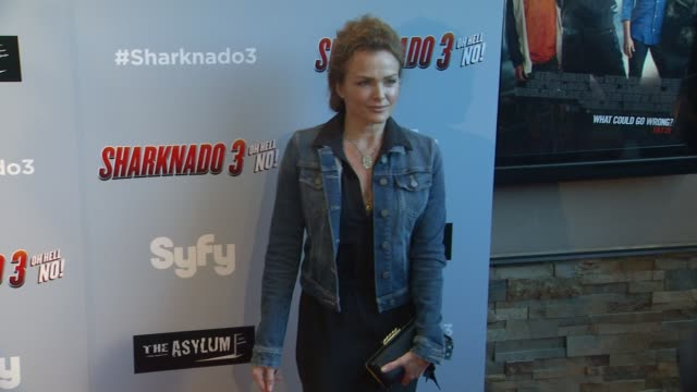 Dina Meyer at The Asylum's Sharknado 3 Oh Hell No Los Angeles Premiere at iPic Theaters on July 22 2015 in Los Angeles California