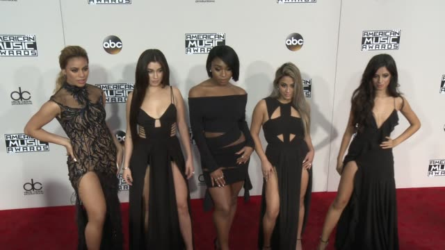 dinah jane hansen lauren jauregui normani hamilton ally brooke and camila cabello at 2016 american music awards at microsoft theater on november 20... - american music awards stock videos and b-roll footage