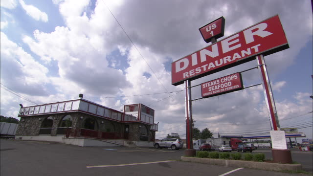 us1 diner - roadside stock videos and b-roll footage