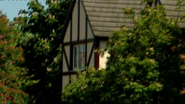 anxiang du found guilty; t03051134 / tx 3.5.2011 england: northampton: wootton: ext exterior of house where ding family found murdered tilt down... - northampton england stock videos & royalty-free footage