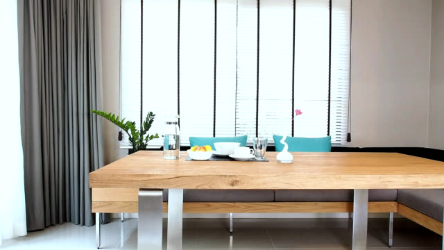 dining room interior design - home showcase interior stock videos & royalty-free footage