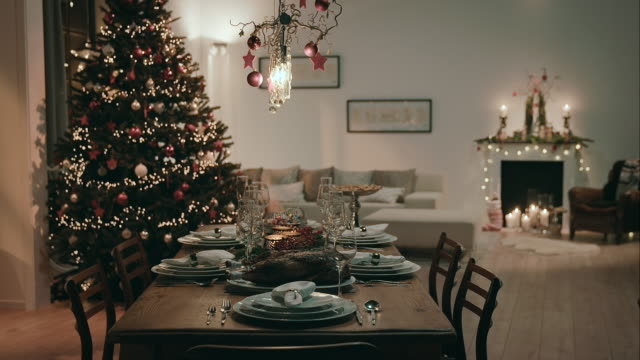 Dining room on christmas eve