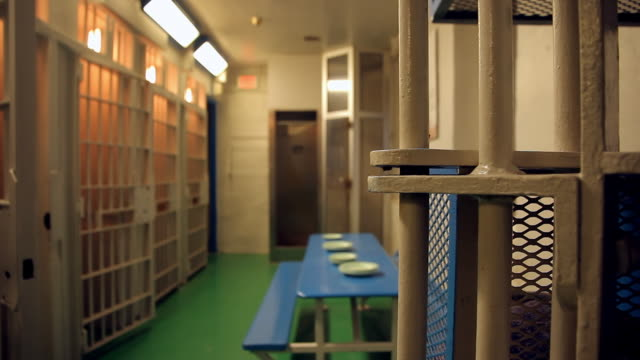 a dining room outside the prison cell - jail cell stock videos & royalty-free footage