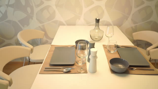 dining table at home - place setting stock videos & royalty-free footage